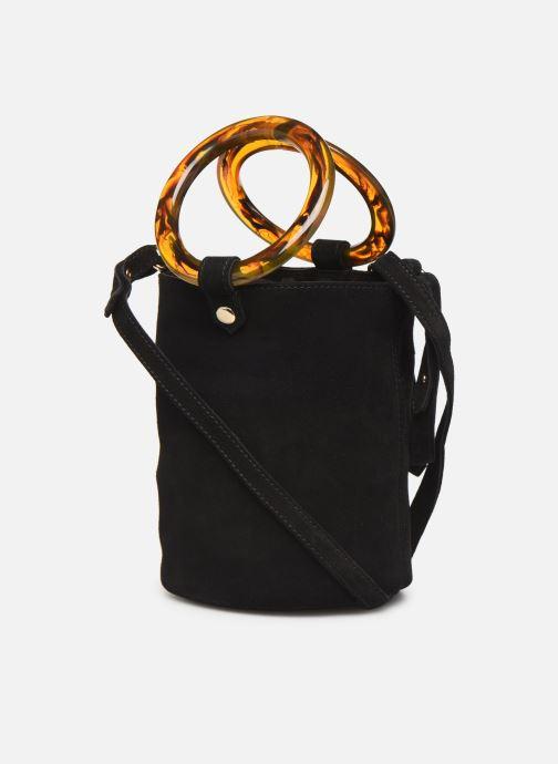 Handtaschen Petite mendigote Sac anneau Ariel cow split schwarz ansicht von rechts