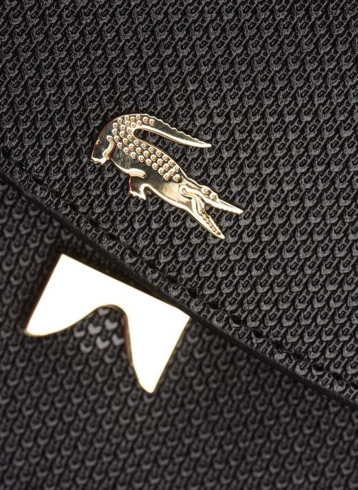 Borse Lacoste CHANTACO CUIR ROUND CROSSOVER BAG Nero immagine sinistra