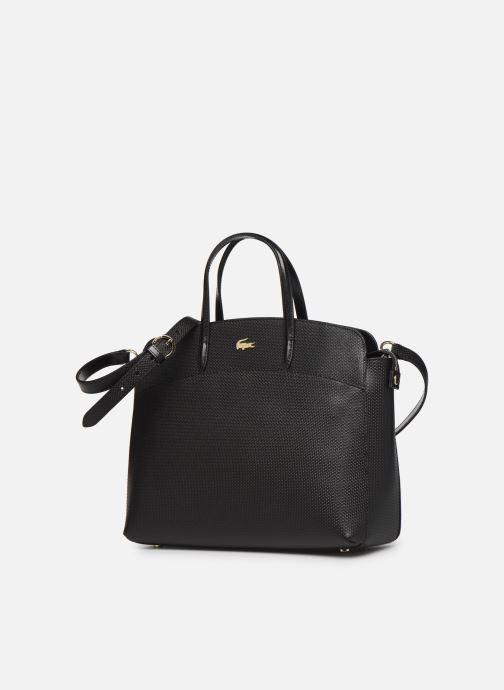 Sacs à main Lacoste CHANTACO CUIR POCKETS SHOPPING BAG Noir vue portées chaussures
