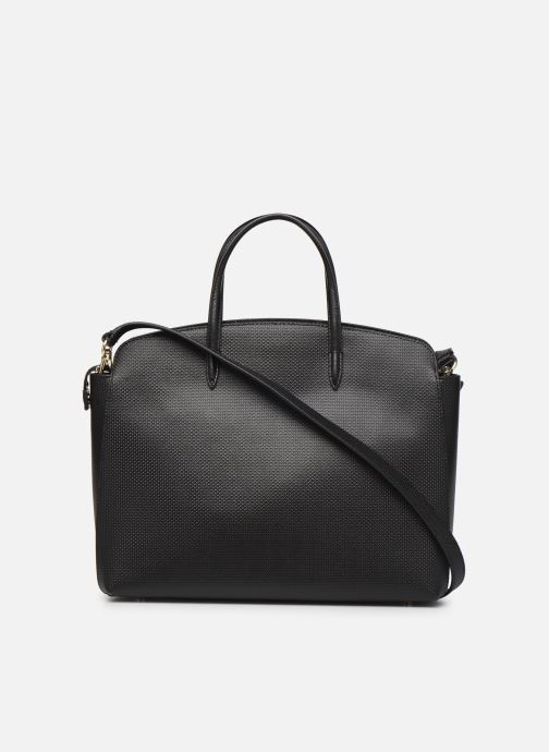 Sacs à main Lacoste CHANTACO CUIR POCKETS SHOPPING BAG Noir vue face