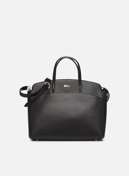 Sacs à main Lacoste CHANTACO CUIR POCKETS SHOPPING BAG Noir vue détail/paire