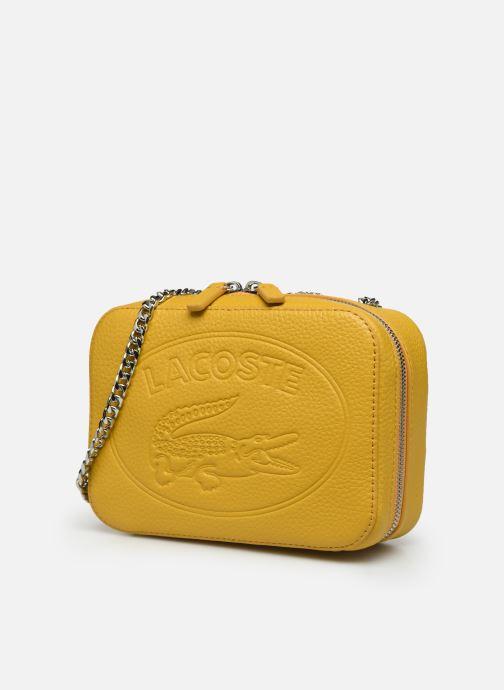 Handbags Lacoste CROCO CREW CUIR  CROSSOVER BAG Yellow model view