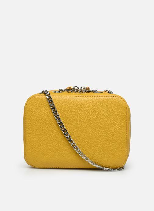 Handbags Lacoste CROCO CREW CUIR  CROSSOVER BAG Yellow front view