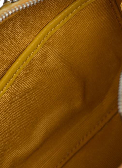 Handbags Lacoste CROCO CREW CUIR  CROSSOVER BAG Yellow back view