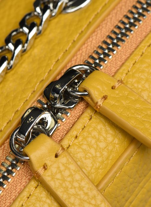 Handbags Lacoste CROCO CREW CUIR  CROSSOVER BAG Yellow view from the left