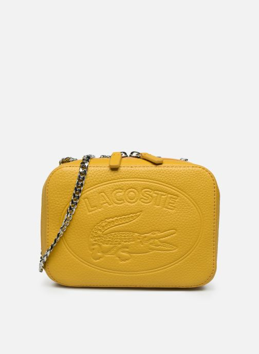 Handbags Lacoste CROCO CREW CUIR  CROSSOVER BAG Yellow detailed view/ Pair view