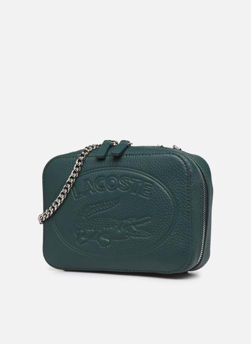 Handtaschen Lacoste CROCO CREW CUIR  CROSSOVER BAG grün schuhe getragen