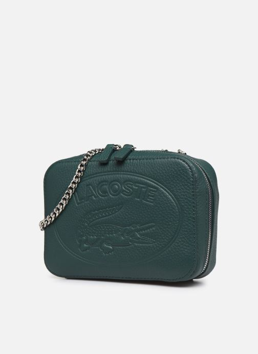Handbags Lacoste CROCO CREW CUIR  CROSSOVER BAG Green model view