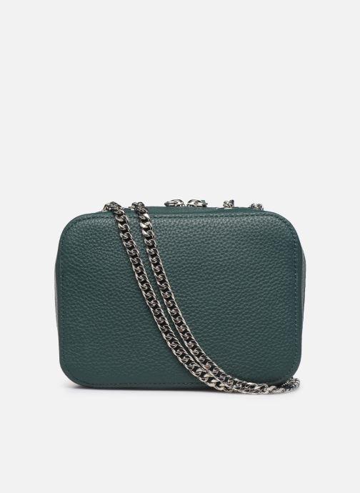Handtaschen Lacoste CROCO CREW CUIR  CROSSOVER BAG grün ansicht von vorne