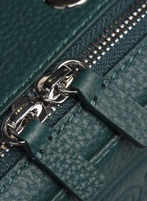 Handtaschen Lacoste CROCO CREW CUIR  CROSSOVER BAG grün ansicht von links