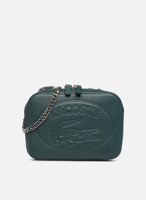 Handtassen Lacoste CROCO CREW CUIR  CROSSOVER BAG Groen detail