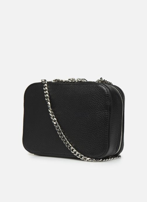 Handbags Lacoste CROCO CREW CUIR  CROSSOVER BAG Black view from the right