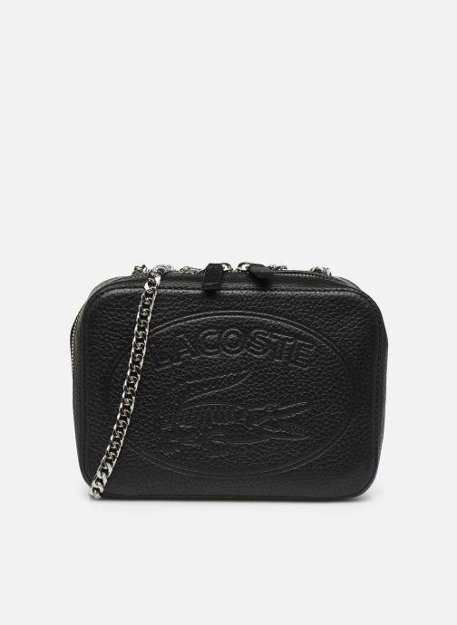 Sacs à main Lacoste CROCO CREW CUIR  CROSSOVER BAG Noir vue détail/paire