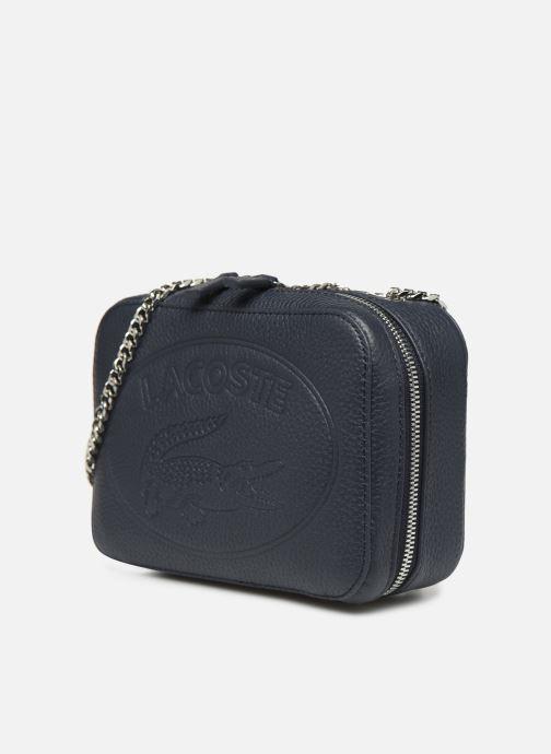 Handtassen Lacoste Croco Crew Crossover Bag Blauw model