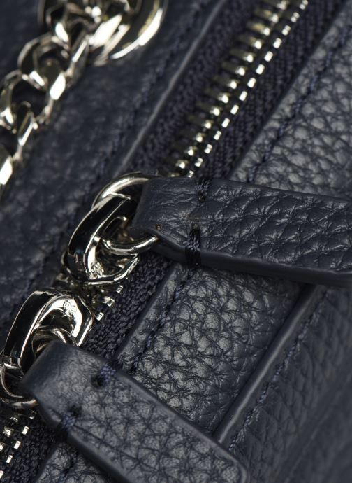 Handtassen Lacoste Croco Crew Crossover Bag Blauw links