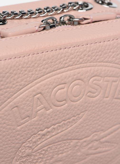Sacs à main Lacoste Croco Crew Crossover Bag Rose vue gauche