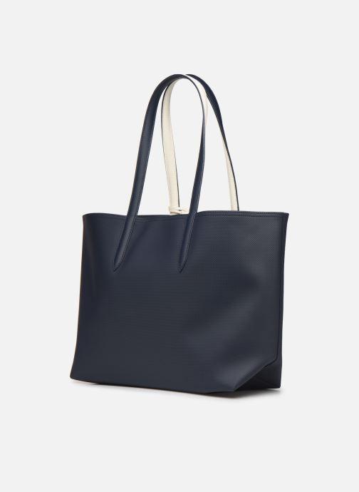 Handtassen Lacoste ANNA SHOPPING BAG Blauw rechts