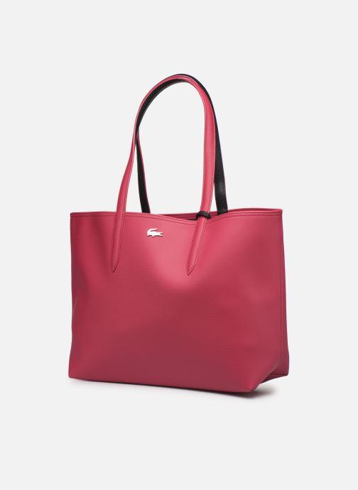 Sacs à main Lacoste ANNA SHOPPING BAG Rouge vue portées chaussures