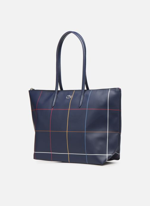 Handtaschen Lacoste L.12.12 CONCEPT L SHOPPING BAG blau schuhe getragen