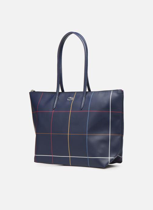 Handtaschen Lacoste L.12.12 Concept Seasonal L Shopping Bag blau schuhe getragen