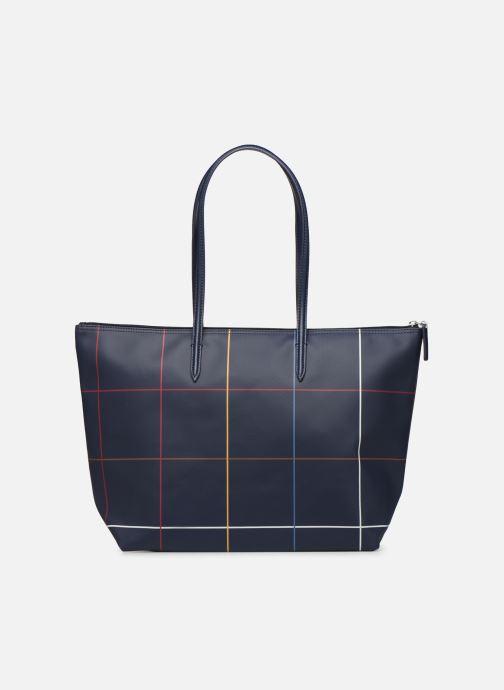 Handtaschen Lacoste L.12.12 CONCEPT L SHOPPING BAG blau ansicht von vorne