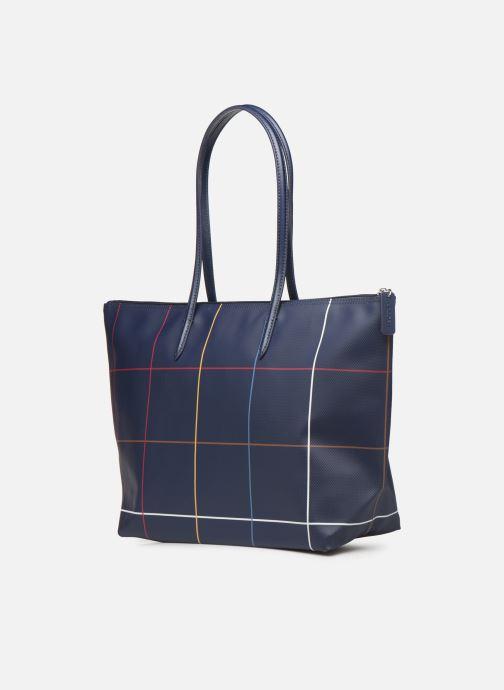 Handtaschen Lacoste L.12.12 CONCEPT L SHOPPING BAG blau ansicht von rechts