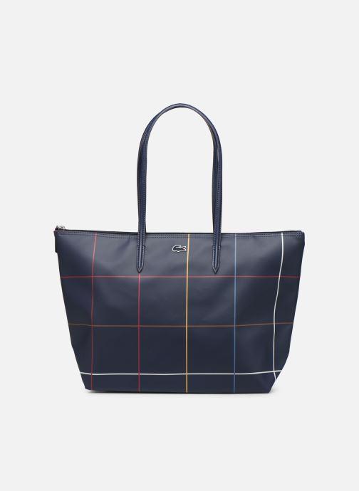 Handtaschen Lacoste L.12.12 CONCEPT L SHOPPING BAG blau detaillierte ansicht/modell