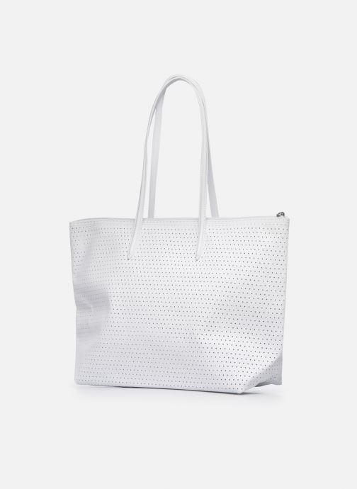 Sacs à main Lacoste L.12.12 Concept Seasonal L Shopping Bag Blanc vue droite