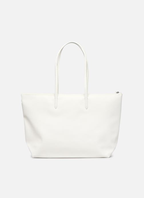 Bolsos de mano Lacoste L.12.12 Concept Seasonal L Shopping Bag Blanco vista de frente