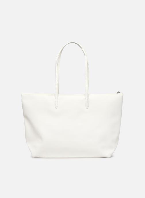 Handtaschen Lacoste L.12.12 Concept Seasonal L Shopping Bag weiß ansicht von vorne