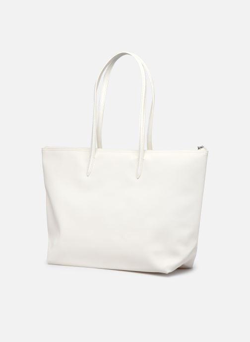 Handtaschen Lacoste L.12.12 Concept Seasonal L Shopping Bag weiß ansicht von rechts