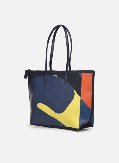 Bolsos de mano Lacoste L.12.12 Concept Seasonal L Shopping Bag Multicolor vista del modelo