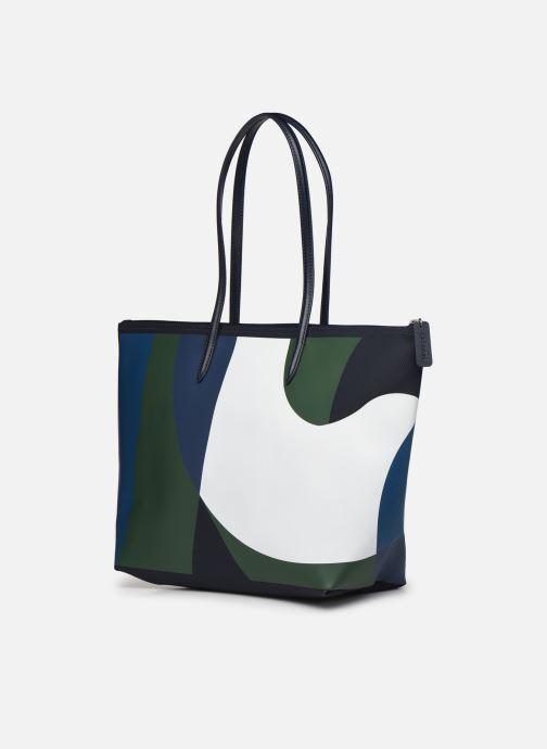 Bolsos de mano Lacoste L.12.12 Concept Seasonal L Shopping Bag Multicolor vista lateral derecha