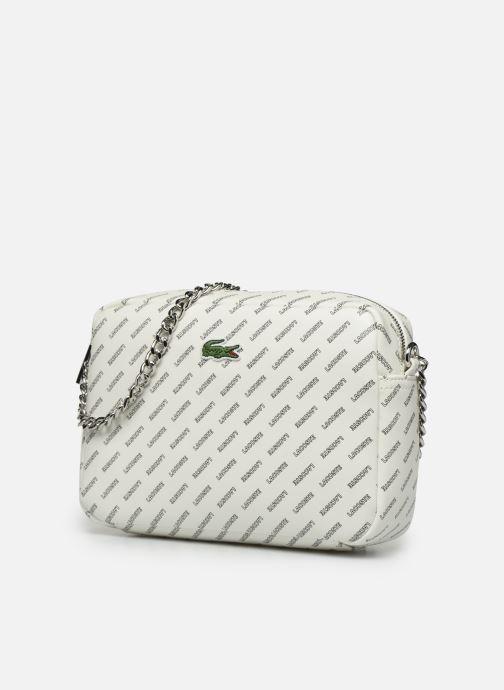 Handtaschen Lacoste REL!VE CROSSOVER weiß schuhe getragen