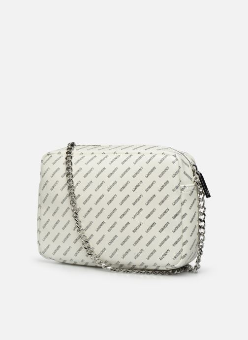 Handtaschen Lacoste REL!VE CROSSOVER weiß ansicht von rechts
