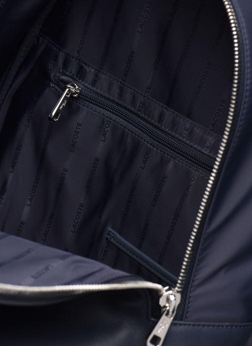 Sacs à dos Lacoste L.12.12 CUIR BACKPACK Bleu vue derrière