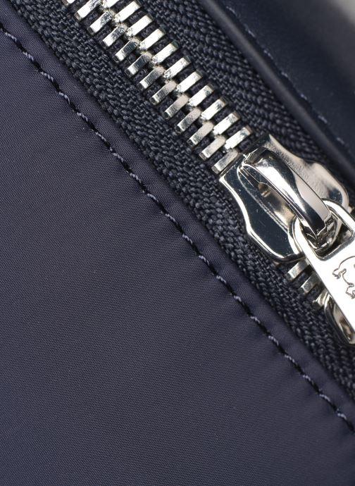 Rucksäcke Lacoste L.12.12 CUIR BACKPACK blau ansicht von links