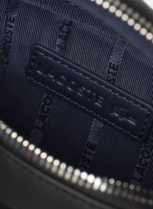 Herrentaschen Lacoste L.12.12 CUIR WAISTBAG schwarz ansicht von hinten
