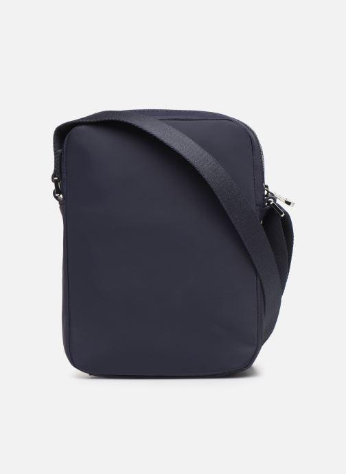 Men's bags Lacoste L.12.12 CUIR M VERTICAL CAMERA BAG Blue front view