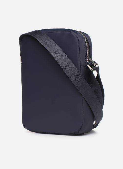Men's bags Lacoste L.12.12 CUIR M VERTICAL CAMERA BAG Blue view from the right