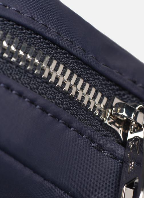 Bolsos de hombre Lacoste L.12.12 CUIR M VERTICAL CAMERA BAG Azul vista lateral izquierda