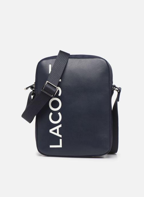 Men's bags Lacoste L.12.12 CUIR M VERTICAL CAMERA BAG Blue detailed view/ Pair view