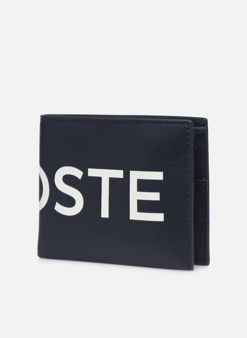 Portemonnaies & Clutches Lacoste L.12.12 CUIR S BILLFOLD blau schuhe getragen
