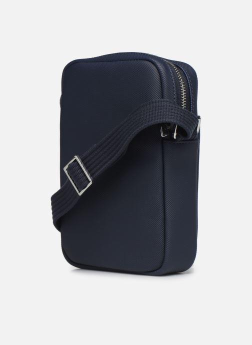 Sacs homme Lacoste MEN S CLASSIC SLIM VERTICAL CAMERA BAG Bleu vue droite