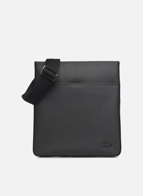 Herentassen Lacoste Men'S Classic Flat Crossover Bag Zwart detail