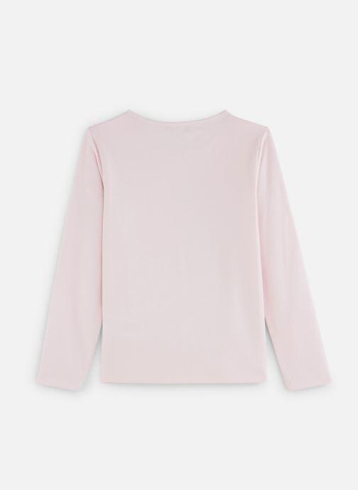 """Vêtements Lili Gaufrette T-Shirt """"Tour Eiffel"""" Rose Lili Rose vue bas / vue portée sac"""