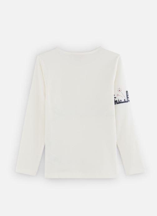 """Vêtements Lili Gaufrette T-Shirt """"Paris"""" Blanc Nacre Blanc vue bas / vue portée sac"""