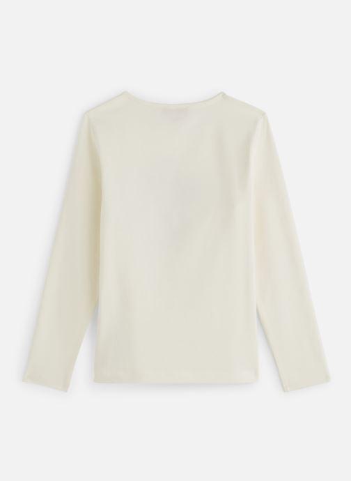 Vêtements Lili Gaufrette T-Shirt Blanc Nacre Blanc vue bas / vue portée sac
