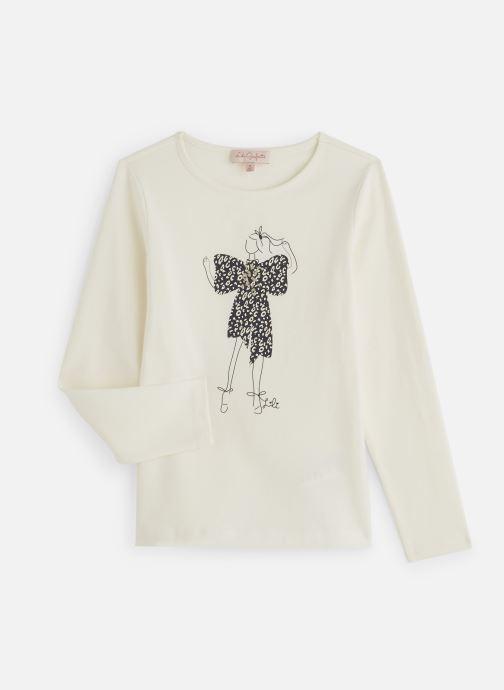 Vêtements Lili Gaufrette T-Shirt Blanc Nacre Blanc vue détail/paire