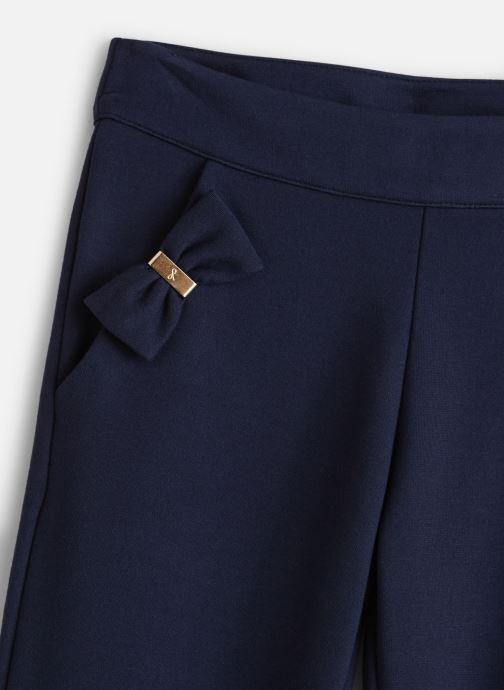 Vêtements Lili Gaufrette Pantalon Milano Bleu Marine à noeuds Bleu vue portées chaussures